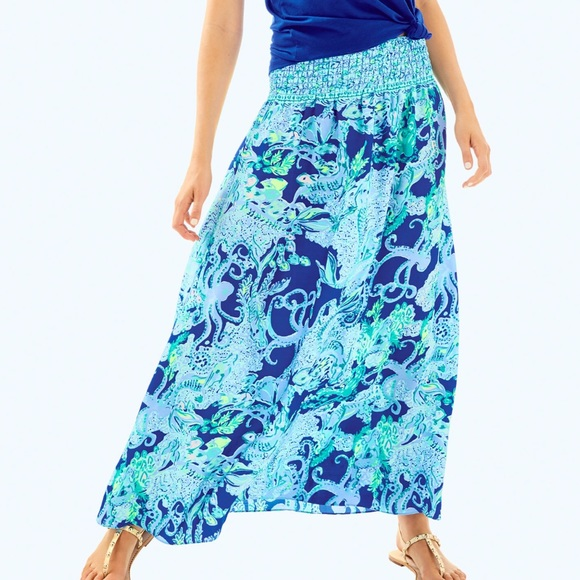 1b65b1e42 Lilly Pulitzer Skirts | Nwt Bohdi Maxi Skirt Sea Sirens | Poshmark